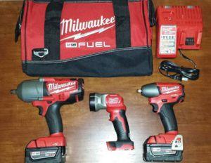 "Milwaukee 1/2"", 3/8"" impact wrench, flashlight for Sale in Atlanta, GA"
