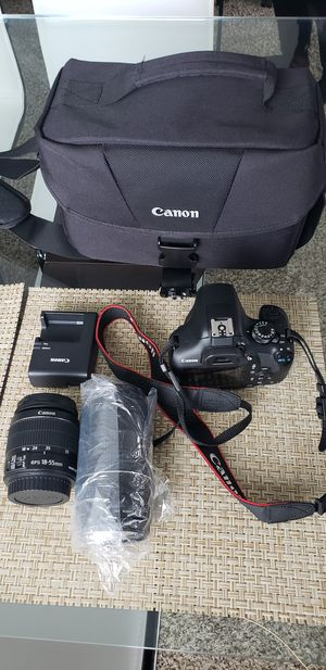 Canon rebel t6 with 2 lenses for Sale in Rockville, MD