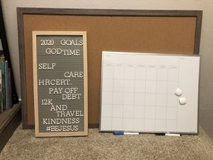 Dry Erase, Cork Board and Letter Board for Sale in Monterey, CA