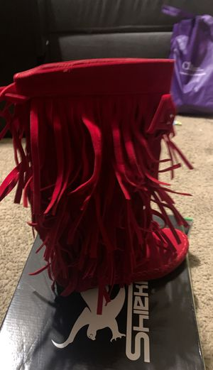 Red fringe boots for Sale in Spring, TX