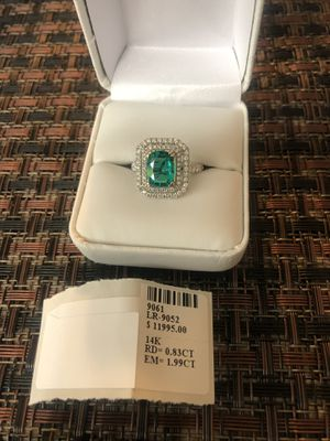 Emerald diamond ring for Sale in Rockville, MD