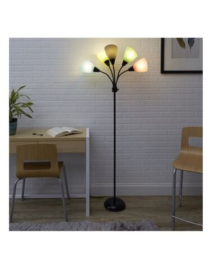 5-Light Multi Head Floor Lamp, Black with Multi Color Shade for Sale in Sunnyvale, CA