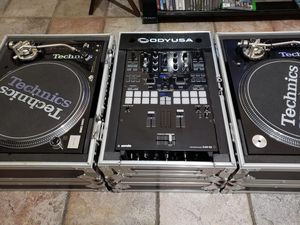 DJ EQUIPMENT COMPLETE TECHNICS SL1210M5G GRANDMASTER BLACK PROFESSIONAL DIRECT DRIVE TURNTABLE MIXER PIONEER DJM S9 /NEEDLES M44-7 /VINYLS SERATODJ for Sale in Glendale, AZ