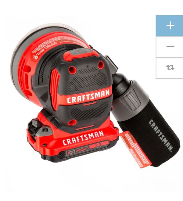Craftsman 20 volt lithium ion 9 piece power tool set w/two batteries and 2 tool bags and charging port