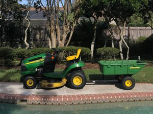 John Deere Tractor with cart for Sale in Tampa, FL