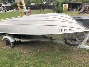 "12' 4"" shorelander Aluminum boat. With trailer for Sale in Phoenix, AZ"