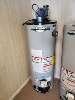 Brand New AO Smith 50 Gallon NATURAL GAS Water Heater With Exhaust Blower for Sale in Moyock, NC