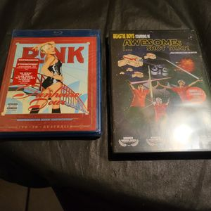 Pink Funhouse TOUR BLU RAY NEW + BEASTIE BOYS AWESOME I SHOT THAT NEW DVD for Sale in West Sacramento, CA