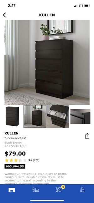 IKEA Killeen 5-drawer chest for Sale in Fresno, CA