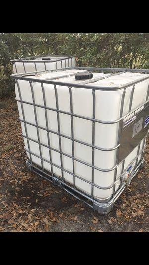275 Gallon tote water tank - $60 (Tampa) - $60 (Bartow) for Sale in Bartow, FL