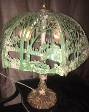 1920 antique miller art Nouveau 2 light dome lamp for Sale in Long Beach, CA
