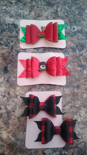 Christmas faux leather bows for Sale in North Port, FL