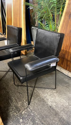 Genuine Leather & Steel Arm Chairs for Sale in Vancouver, WA