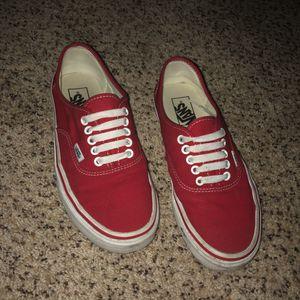 Vans red authentics for Sale in Spokane, WA