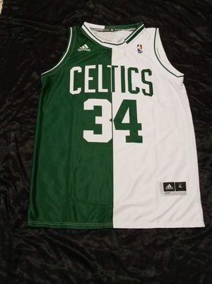 Boston Celtics Two-Tone #34 Paul Pierce Jersey. Now On Sale! for Sale in Twentynine Palms, CA