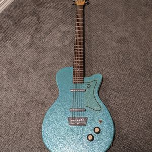 RARE DANELECTRO BASS VI IN SPARKLE BLUE for Sale in Portland, OR
