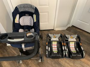Chicco KeyFit 30 Infant car seat with Base and Caddy for Sale in San Jose, CA