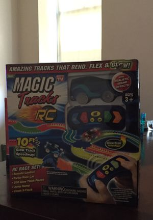 Magic track rc with cars for Sale in Boston, MA