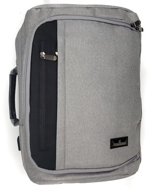 NEW! Grey Sturdy,Multipocket/Tech Use Travel Backpack/Converts To Messenger Bag/Crossbody/Side Bag For Traveling/Work/School/Biking/Hiking/Sports for Sale in Carson, CA