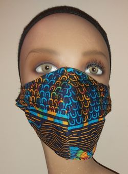 Black Ethnic Print Face Mask for Sale in Springdale,  MD