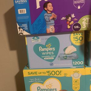 BN Pampers s3 1,200 Pampers Wipes & Huggies for Sale in Tulsa, OK