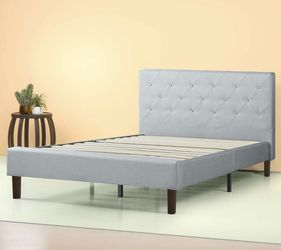 Upholstered Platform Bed Frame, Sage Gray, Full for Sale in Cleveland,  OH