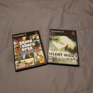 Silent Hill 2 (Very Rare) + Grand Theft Auto San Andreas for Sale in Cranston, RI
