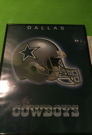 Dallas Cowboys Poster and frame for Sale in Sanger, CA