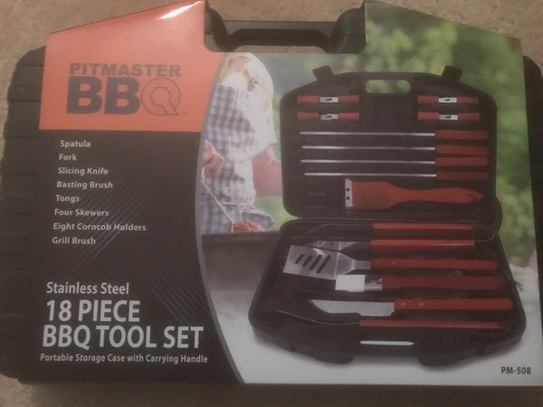 18 Piece Grill Set Stainless Steel BRAND NEW