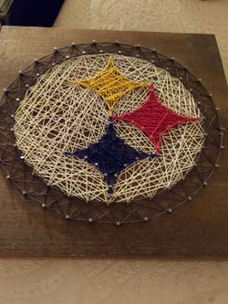 Cusey Custom Crafts Hand Made String Art STEELERS logo for Sale in Tempe,  AZ