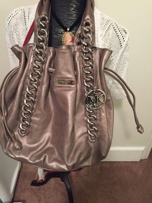 Michael kors chain link hobo all leather for Sale in Mount Laurel, NJ