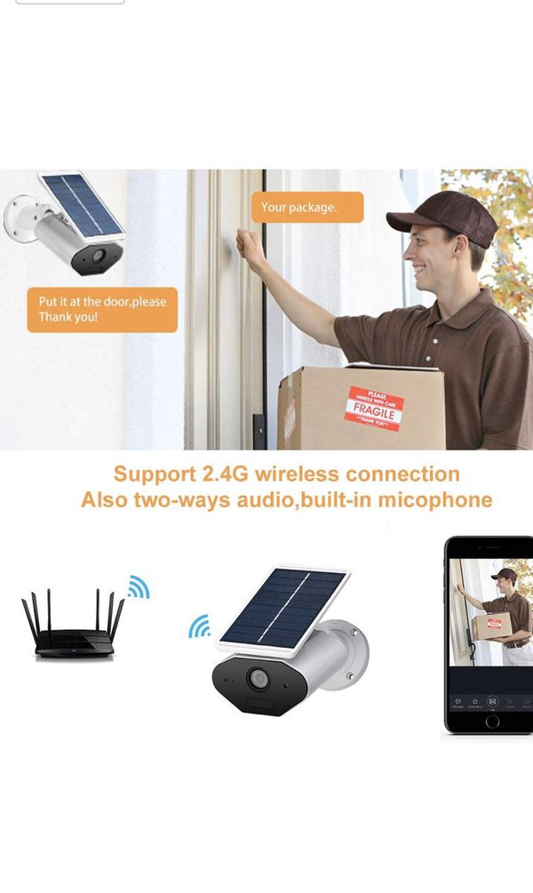 Wireless Battery Powered Security Camera Solar Powered Camera