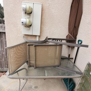 Patio Table, Chairs, Umbrella for Sale in Colorado Springs, CO