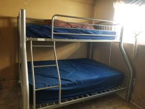 Bunk beds one twin one full great condition no mattress for Sale in San Diego, CA