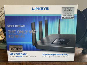 Lynksys ac5400 gig router for Sale in Fairview, OR