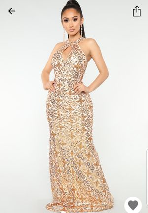 In Sequence Dress Ivory/Gold for Sale in Houston, TX