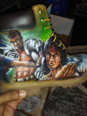 Custommade mortal kombat timberlands. One of a kind. No Trades. No Deals. Serous buyers .. Only Cash. Or Western union. Or cash app. .PRICE IS FINAL.. for Sale in Manassas, VA
