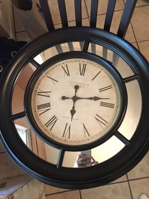 Wall clock with mirrors for Sale in Round Rock, TX