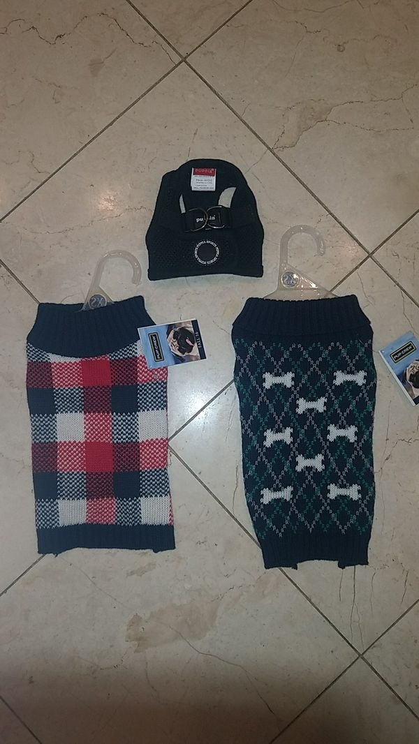 Xs dog sweaters and harness