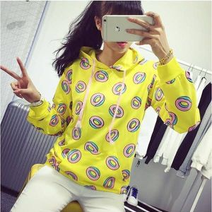 Kawaii Yellow Donut Hoodie for Sale in South Riding, VA