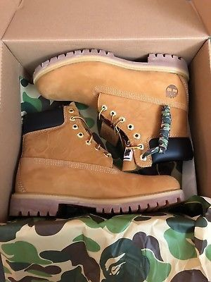 NEW RARE TIMBERLANDS BAPE X UNDEFEATED BOOTS SIZE 12 for Sale in Fullerton, CA