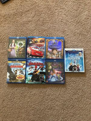 Blu-Ray Kids Movies - Disney, Cars, How to Train Your Dragon 1/2 for Sale in Cedar Hill, TX