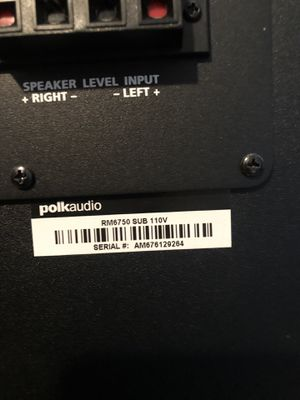 Polk audio (surround sound system) for Sale in Fall River, MA