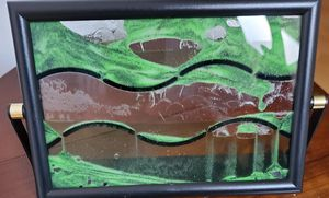 Sand and water frame for desk decor , colors are green or brown for Sale in Bolingbrook, IL