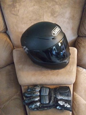 Motorcycle helmet and gloves for Sale in Ludlow, MA