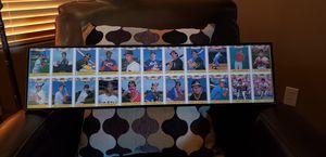 1987 uncut framed baseball rookie card sheet. for Sale in Glendale, AZ