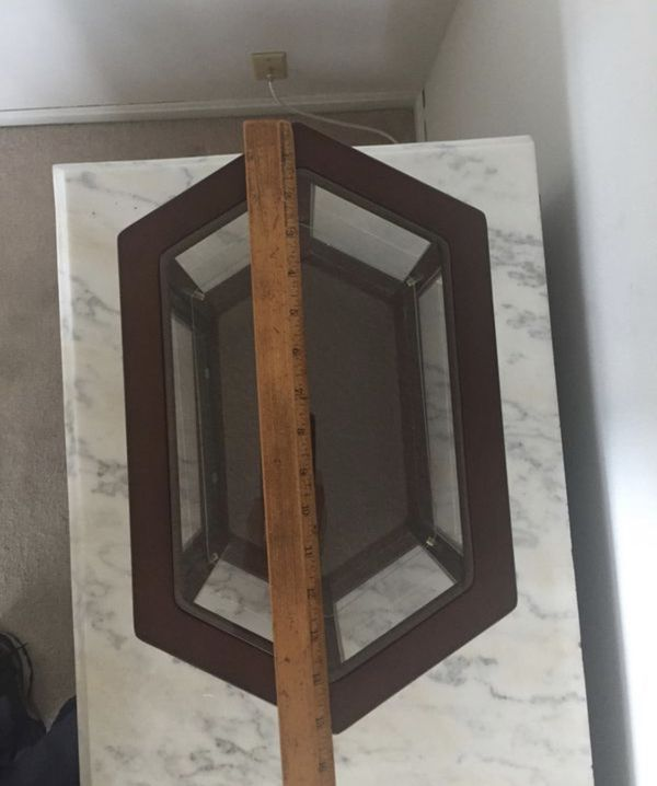 LOT 2 small Glass & Wood CURIO CABINET