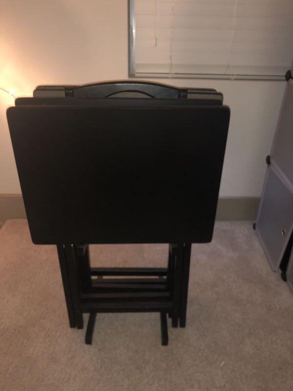 Black Foldable TV Trays