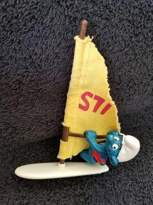 Smurfs Windsurfer Super Smurf Surf Board Sail Vintage Figure Toy for Sale in San Diego, CA