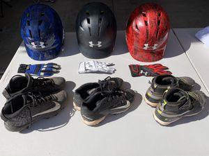 Baseball helmets, gloves, cleats for Sale in Scottsdale, AZ